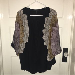 BCBG silk pullover poncho